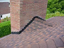 chimney flashing damage