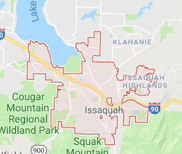 Issaquah roof cleaning territory map