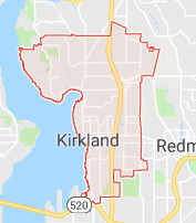 Kirkland roof cleaning territory map