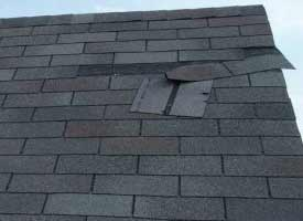 roof missing shingles