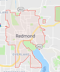 Redmond roof cleaning territory map